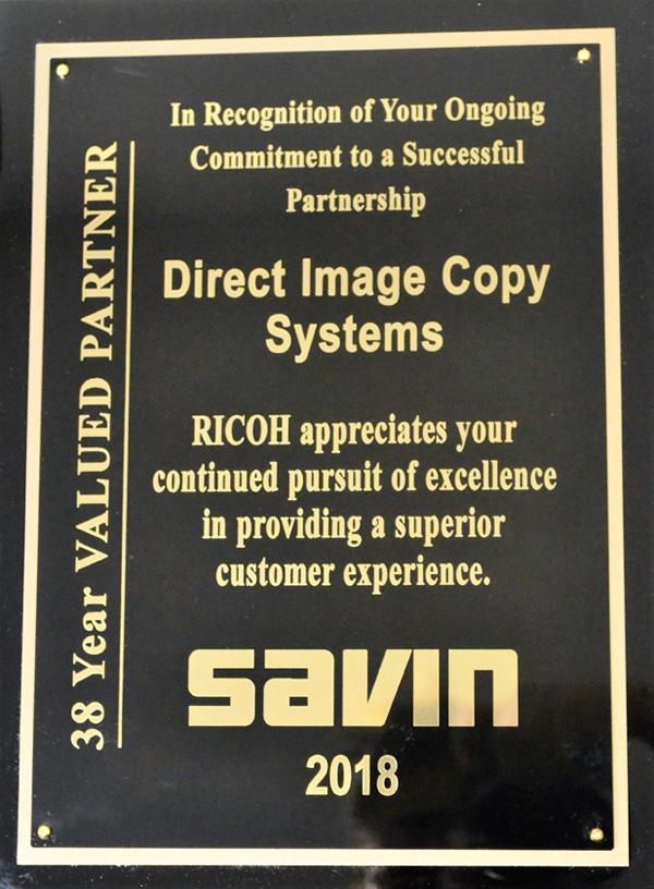 Savin Plaque